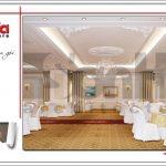 Mẫu nội thất hội trường tầng 4 trung tâm tiệc cưới phong cách cổ điển tại Hải Phòng sh bck 0046