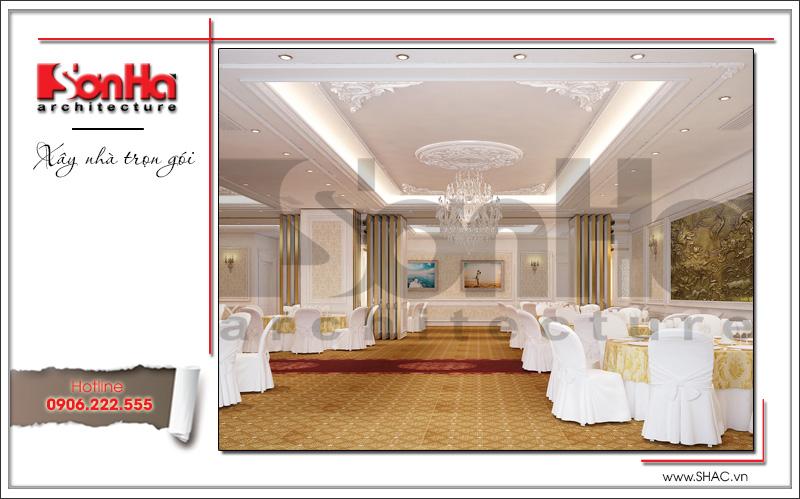 Thiết kế nội thất nhà hàng tiệc cưới phong cách cổ điển tại TD Plaza Hải Phòng - BCK 0046 7