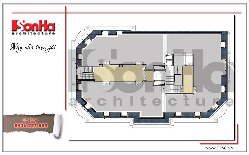Mẫu thiết kế khách sạn cổ điển đẹp tiêu chuẩn 4 sao tại Quảng Ninh - SH KS 0042 7