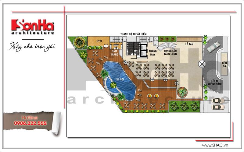 Mẫu khách sạn hiện đại đẹp thiết kế tiêu chuẩn 4 sao tại Phú Quốc (Kiên Giang) - SH KS 0043 7