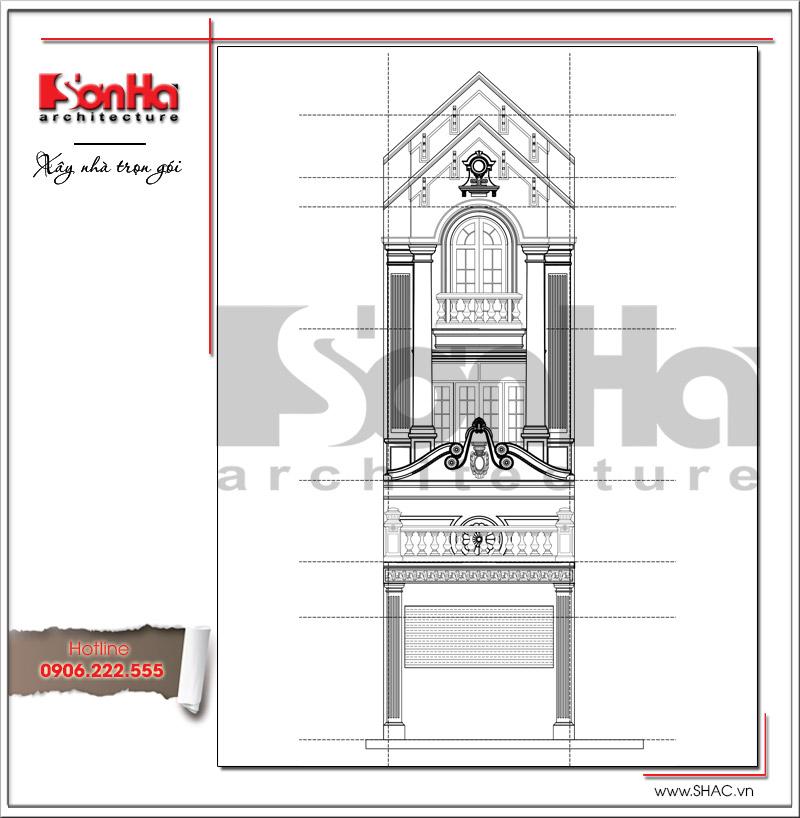 Mẫu thiết kế nhà phố kiến trúc cổ điển mặt tiền 5m tại Hải Dương - SH NOP 0151 4