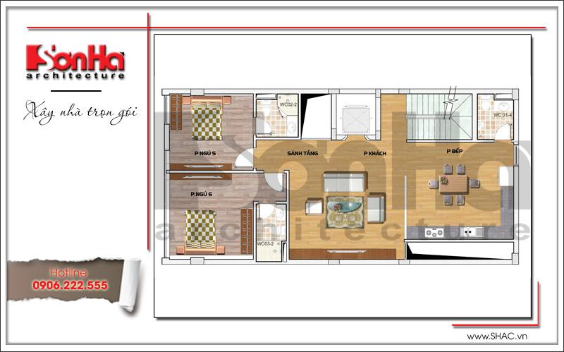 Mẫu thiết kế tòa nhà văn phòng hiện đại nội thất đẹp tại Hải Phòng – SH VP 0032 8