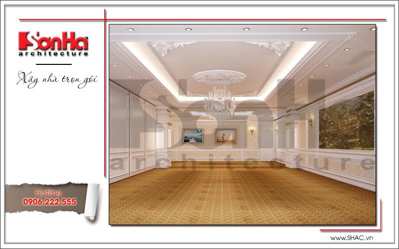 Thiết kế nội thất nhà hàng tiệc cưới phong cách cổ điển tại TD Plaza Hải Phòng - BCK 0046 8