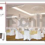 Thiết kế nội thất hội trường tầng 4 trung tâm tiệc cưới phong cách cổ điển tại Hải Phòng sh bck 0046