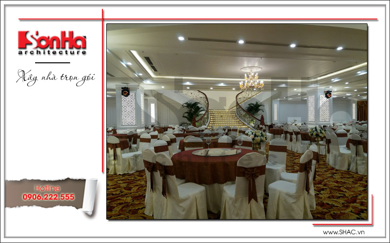 Thiết kế nội thất nhà hàng tiệc cưới phong cách cổ điển tại TD Plaza Hải Phòng - BCK 0046 24