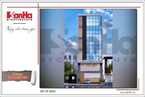 BÌA Mẫu Thiết kế kiến trúc tòa nhà văn phòng tại Hải Phòng sh vp 0032