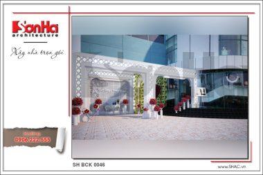 BÌA Thiết kế nội thất trung tâm tiệc cưới phong cách cổ điển tại Hải Phòng sh bck 0046
