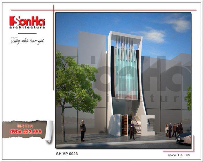 Ấn tượng với mẫu thiết kế văn phòng 5 tầng hiện đại được bình chọn là điển hình năm 2018