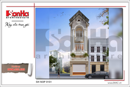bìa mẫu thiết kế kiến trúc cổ điển nhà phố sh nop 0151