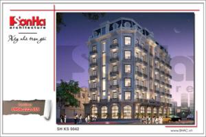 BIA thiết kế kiến trúc khách sạn cổ điển sh ks 0042
