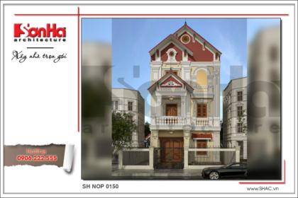 bìa thiết kế nhà ống kiến trúc pháp cổ điển sang trọng sh nop 0150