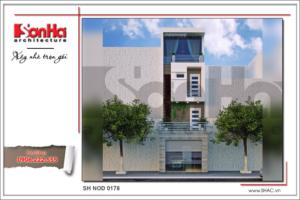 bìa thiết kế nhà phố hiện đại 4 tầng tại hải phòng sh nod 0178