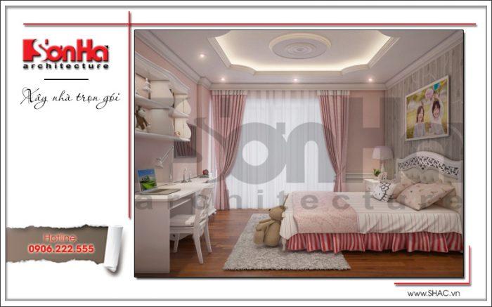 Đây cũng là mẫu thiết kế nội thất phòng ngủ căn hộ chung cư được đánh giá cao của SHAC