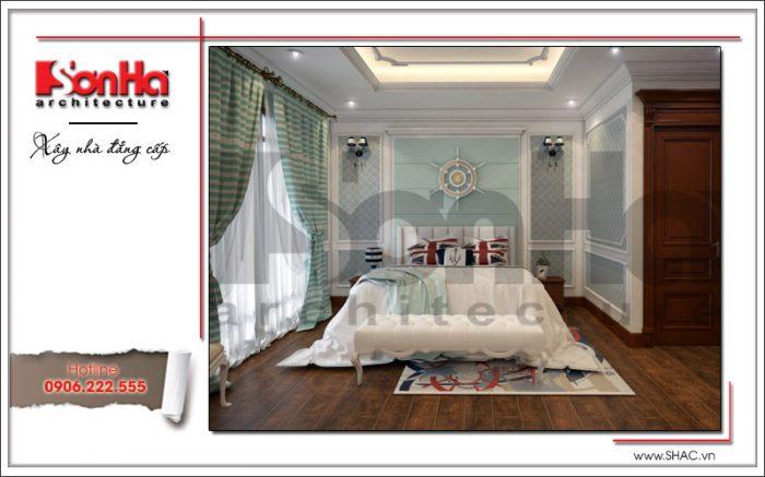 Điển hình của mẫu thiết kế phòng ngủ biệt thự xa hoa và đẳng cấp sử dụng sàn gỗ cao cấp
