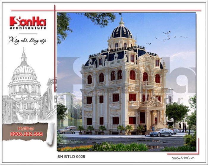 Mãn nhãn với mẫu thiết kế biệt thự lâu đài 4 tầng kiểu Pháp điển hình xu hướng thiết kế 2018