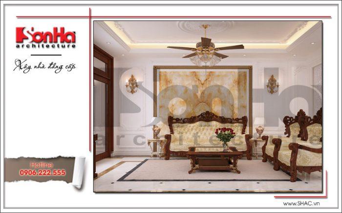 Mẫu thiết kế đồ thất gỗ phong khách biệt thự phong cách cổ điển hạ gục mọi ánh nhìn