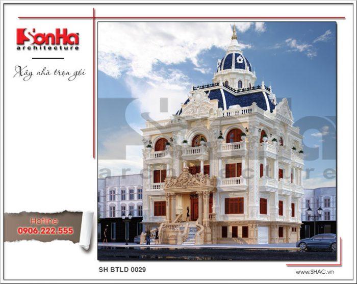 Mẫu thiết kế kiến trúc biệt thự lâu đài cổ điển 5 tầng xa hoa bậc nhất xu hướng năm 2018