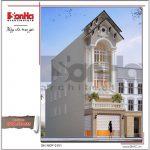 mẫu thiết kế kiến trúc cổ điển nhà phố sh nop 0151