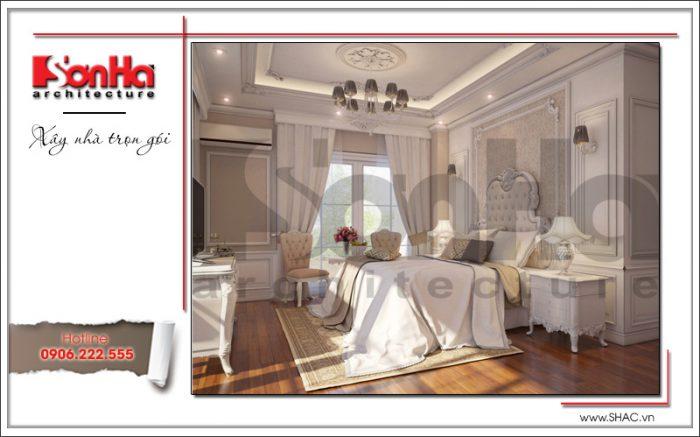 Mẫu thiết kế nội thất phòng ngủ phong cách Pháp mãn nhãn của căn hộ chung cư đẹp