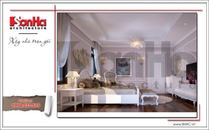 Mẫu thiết kế phòng ngủ biệt thự phong cách cổ điển sang trọng dễ dàng tạo thiện cảm