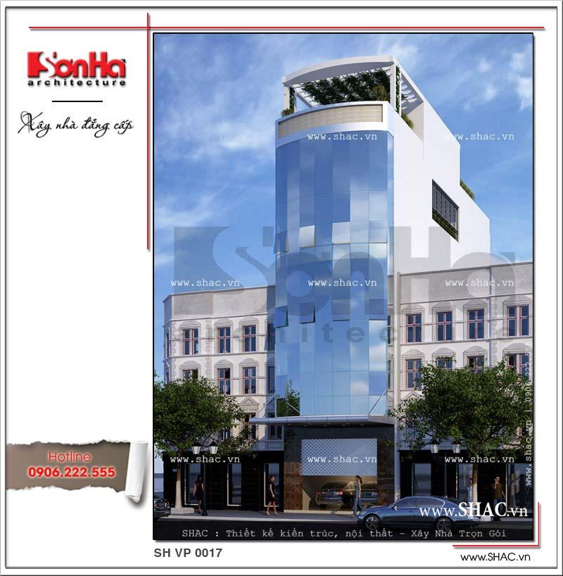 Mẫu thiết kế tòa nhà văn phòng công ty đẹp, tiện nghi với bố cục mạch lạc và chặt chẽ
