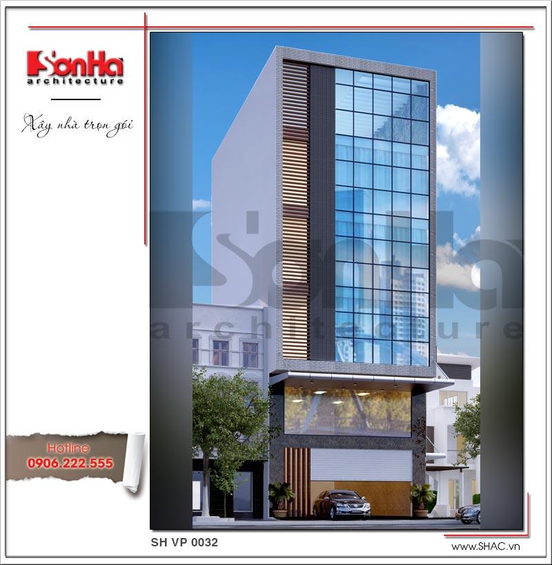 Mẫu thiết kế văn phòng hiện đại 6 tầng và thủ tục cấp phép xây dựng tạm tại quận Long Biên