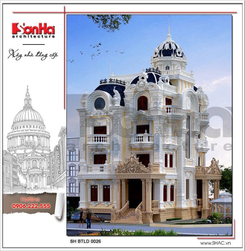 Ngôi biệt thự lâu đài cổ điển 5 tầng đẹp tại Sài Gòn được đánh giá cao xu hướng thiết kế 2018