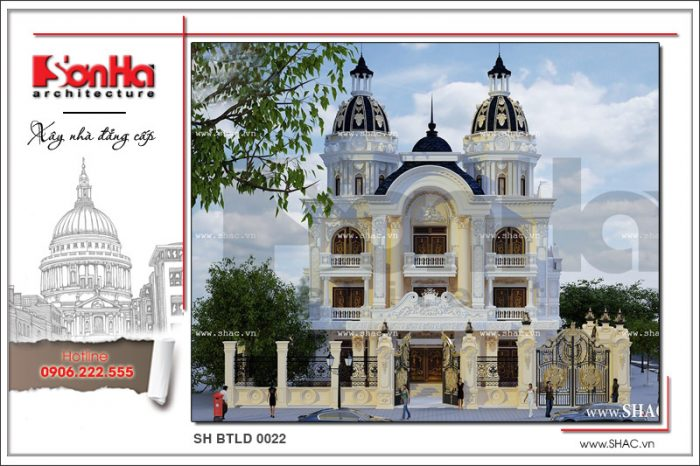Phương án thiết kế biệt thự lâu đài cổ điển phong cách châu Âu sang trọng và tinh tế từng tiểu tiết