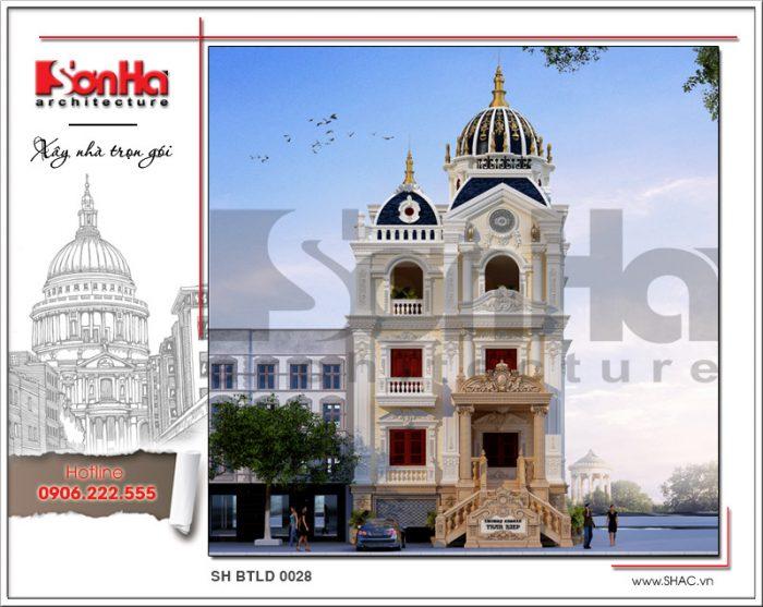 Phương án thiết kế biệt thự lâu đài đồ sộ và sang trọng với 3 tầng nổi bật xu hướng năm 2018