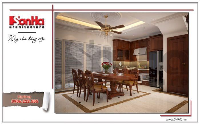 Phương án thiết kế nội thất bếp từ vật liệu gỗ là sự hội tụ của nhưng quan điểm thiết kế mới