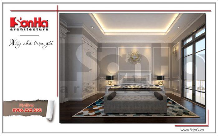 Phương án thiết kế nội thất phòng ngủ biệt thự điển hình xu hướng thiết kế mới nhất 2018