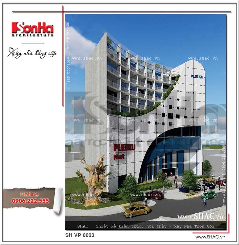 Phương án thiết kế văn phòng hiện đại và sang trọng thương hiệu SHAC nổi bật tại Pleiku