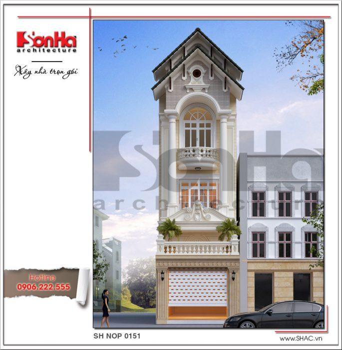 thiết kế kiến trúc nhà phố kiểu pháp sh nop 0151