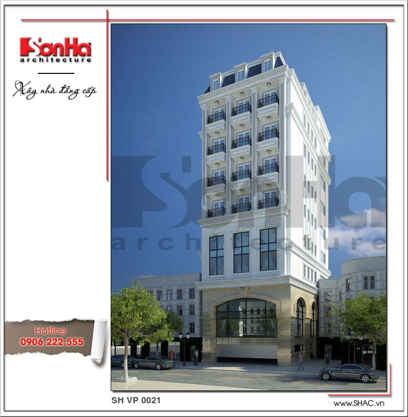 Tòa nhà cho thuê làm văn phòng công ty với thiết kế cổ điển sang trọng hạ gục mọi ánh nhìn