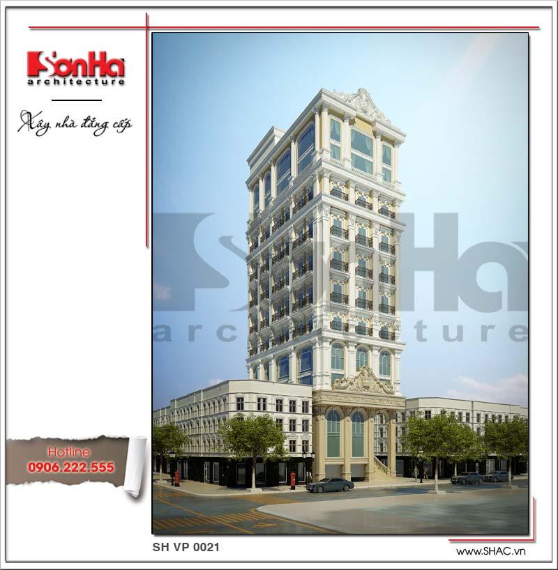 Ý tưởng thiết kế phong cách cổ điển của mẫu tòa nhà văn phòng 12 tầng tiện nghi đẹp 2018