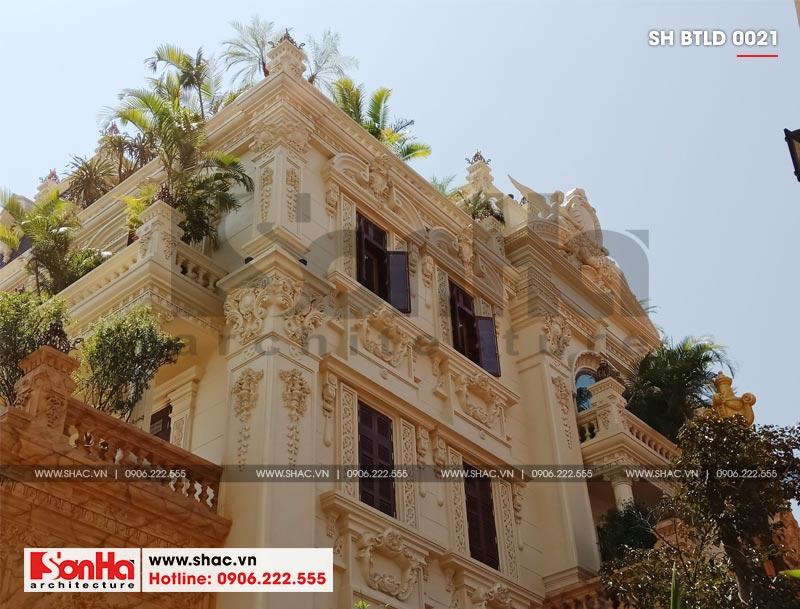 Xây nhà trọn gói công trình biệt thự cổ điển 4 tầng xa hoa tại Hà Nội – SH BTLD 0021 5