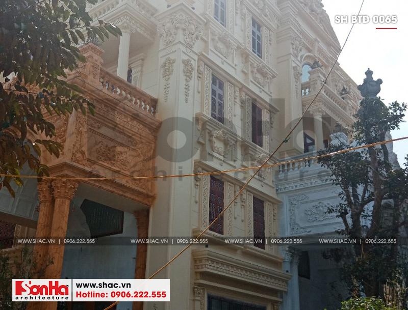 Xây nhà trọn gói công trình biệt thự cổ điển 4 tầng xa hoa tại Hà Nội – SH BTLD 0021 11