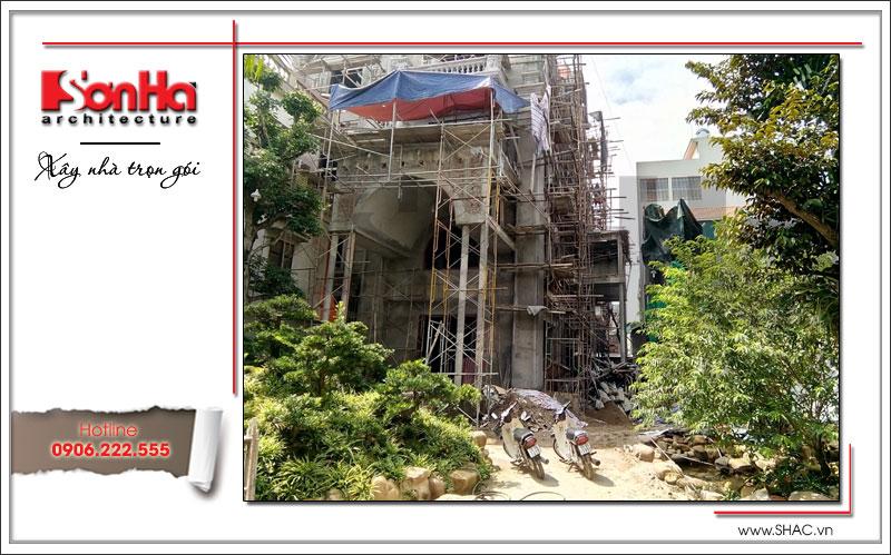 Xây nhà trọn gói công trình biệt thự cổ điển 4 tầng xa hoa tại Hà Nội – SH BTLD 0021 16