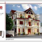 1 Thiết kế kiến trúc biệt thự tân cổ điển tại quảng ninh sh btp 0117
