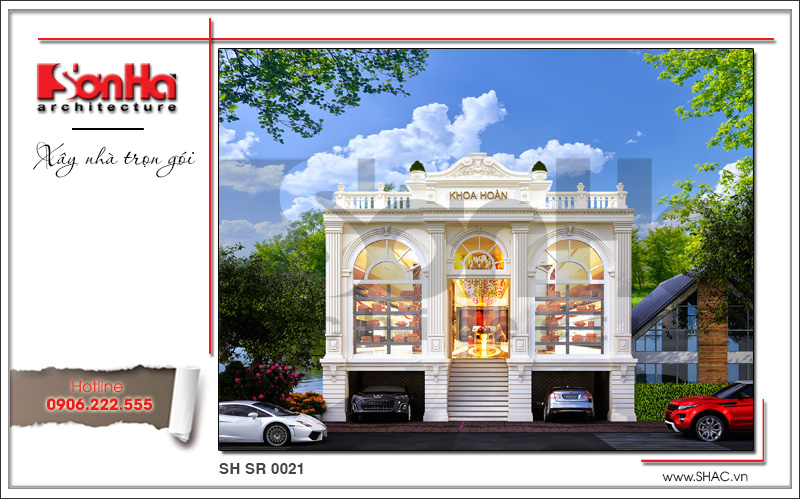 Hồ sơ thiết kế kiến trúc showroom và bản vẽ mặt bằng tại Bắc Ninh - SH SR 0021 1