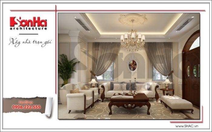 Phương án thiết kế không gian phòng khách biệt thự Vinhomes Imperia