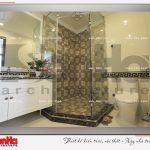 10 Ảnh thực tế nội thất phòng tắm wc biệt thự tân cổ điển khu đô thị vinhomes
