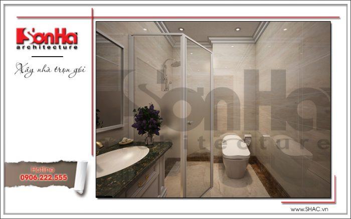thiết kế nội thất phòng tắm, vệ sinh cao cấp của biệt thự