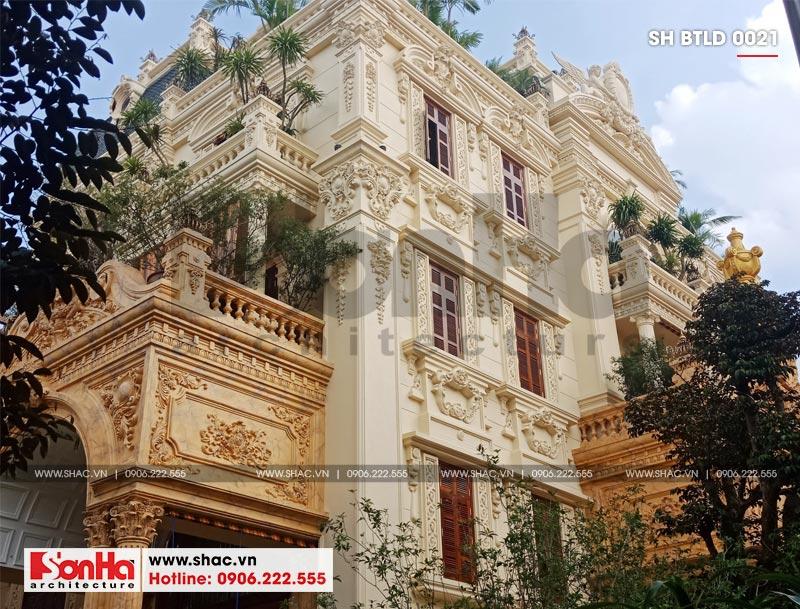 Xây nhà trọn gói công trình biệt thự cổ điển 4 tầng xa hoa tại Hà Nội – SH BTLD 0021 4