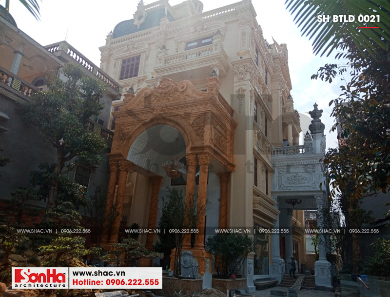Xây nhà trọn gói công trình biệt thự cổ điển 4 tầng xa hoa tại Hà Nội – SH BTLD 0021 7