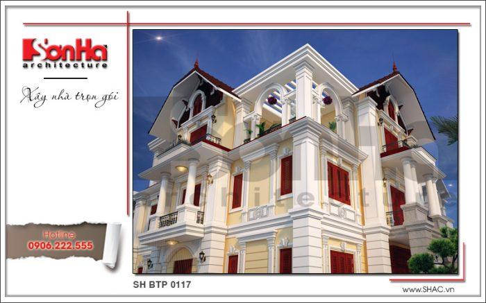 2 Mẫu kiến trúc biệt thự tân cổ điển tại quảng ninh sh btp 0117