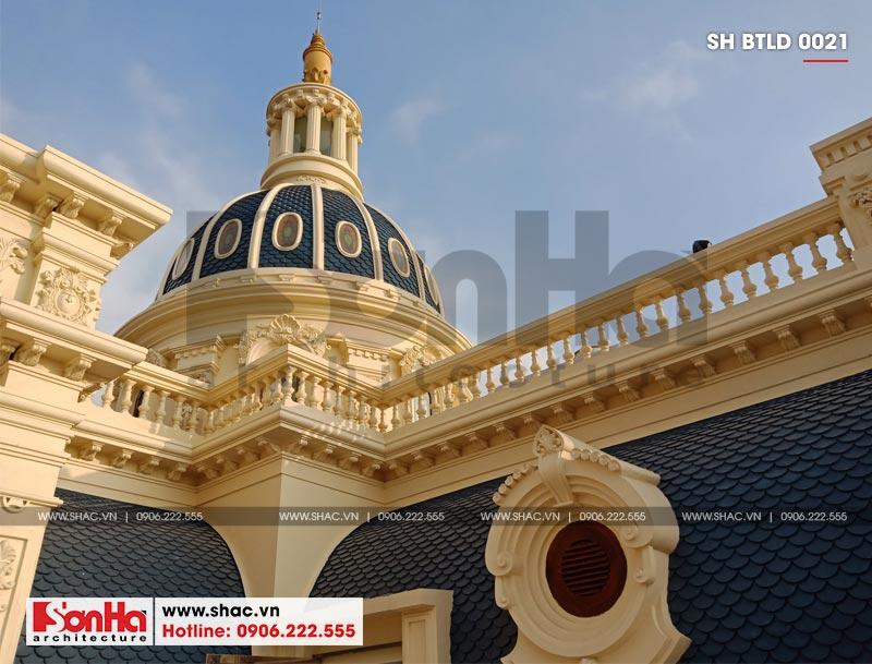 Xây nhà trọn gói công trình biệt thự cổ điển 4 tầng xa hoa tại Hà Nội – SH BTLD 0021 6