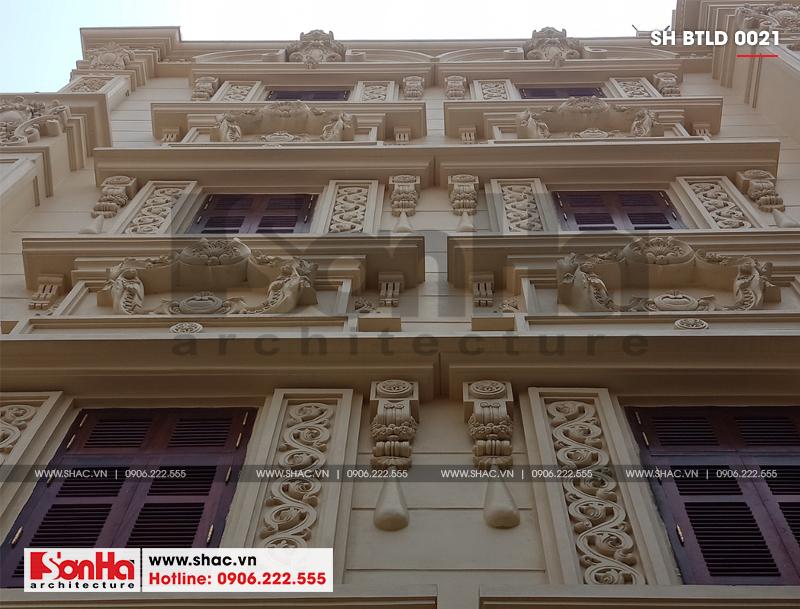 Xây nhà trọn gói công trình biệt thự cổ điển 4 tầng xa hoa tại Hà Nội – SH BTLD 0021 12