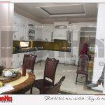 3 Ảnh thực tế thi công nội thất phòng bếp biệt thự khu đô thị vinhomes hải phòng