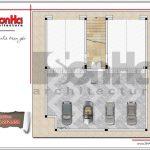 3 Mặt bằng công năng tầng hầm showroom tại bắc ninh sh sr 0021